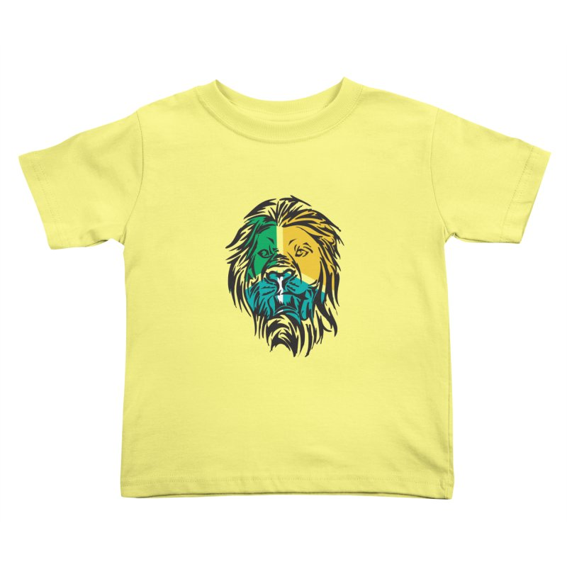 LionFace Kids Toddler T-Shirt by marilcha's Artist Shop