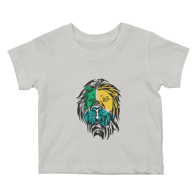 LionFace Kids Baby T-Shirt by marilcha's Artist Shop