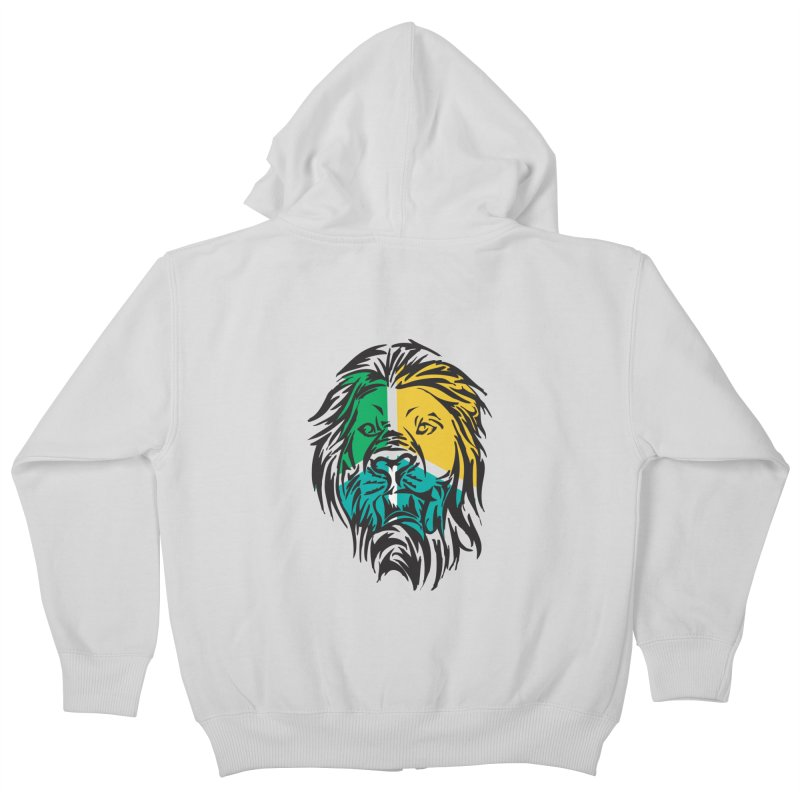 LionFace Kids Zip-Up Hoody by marilcha's Artist Shop