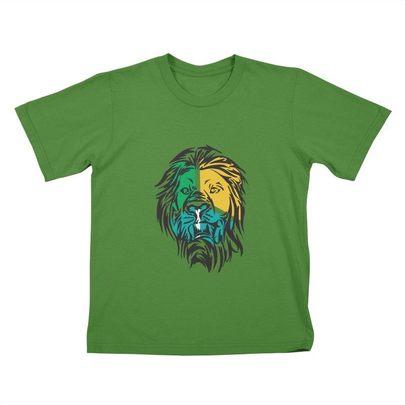 LionFace Kids T-shirt by marilcha's Artist Shop