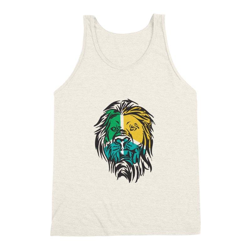 LionFace Men's Triblend Tank by marilcha's Artist Shop