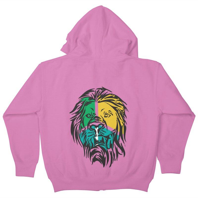 LionFace Kids Zip-Up Hoody by marilcha's Artist Shop