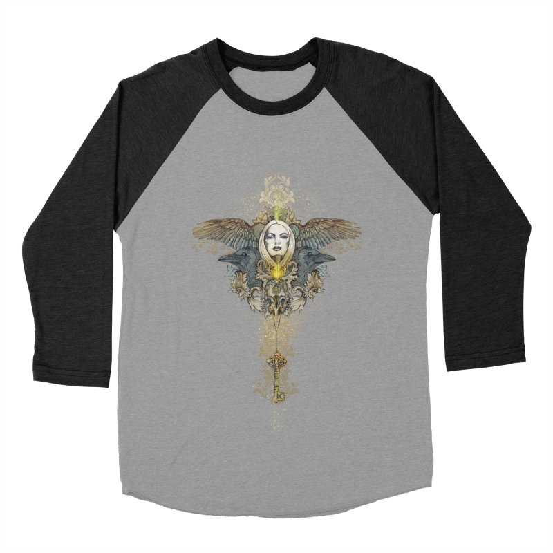 Nothing is heavy to those who have wings Men's Baseball Triblend T-Shirt by marineloup's Artist Shop
