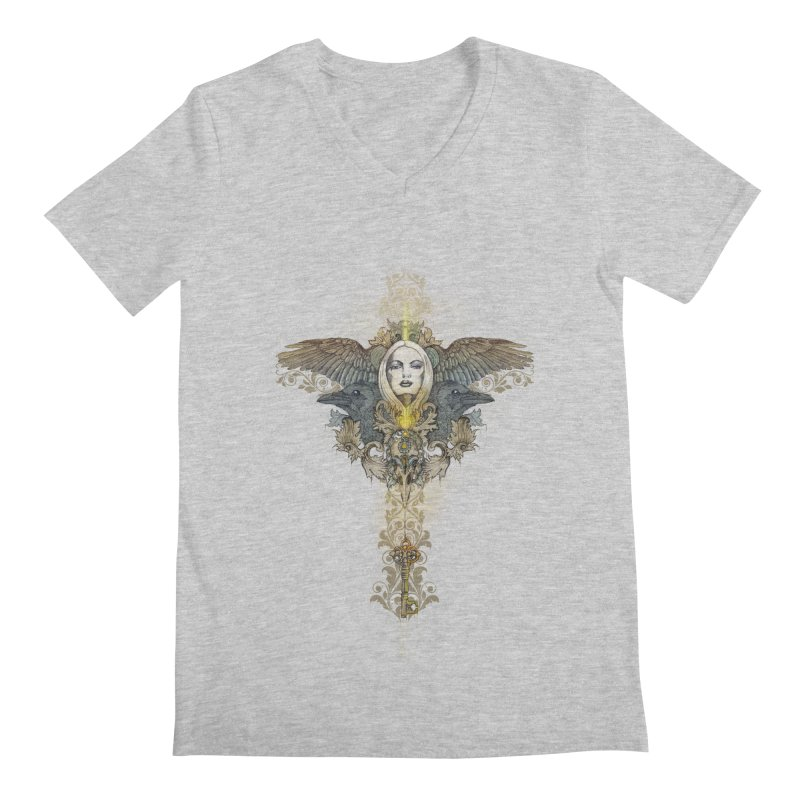 Nothing is heavy to those who have wings Men's V-Neck by marineloup's Artist Shop