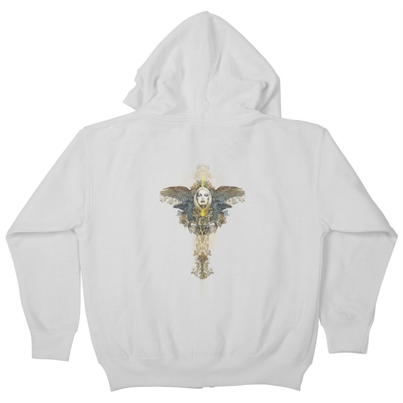 Nothing is heavy to those who have wings Kids Zip-Up Hoody by marineloup's Artist Shop