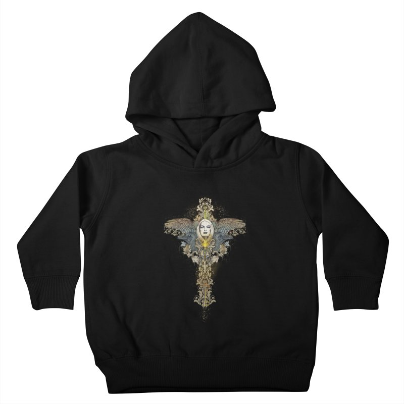 Nothing is heavy to those who have wings Kids Toddler Pullover Hoody by marineloup's Artist Shop