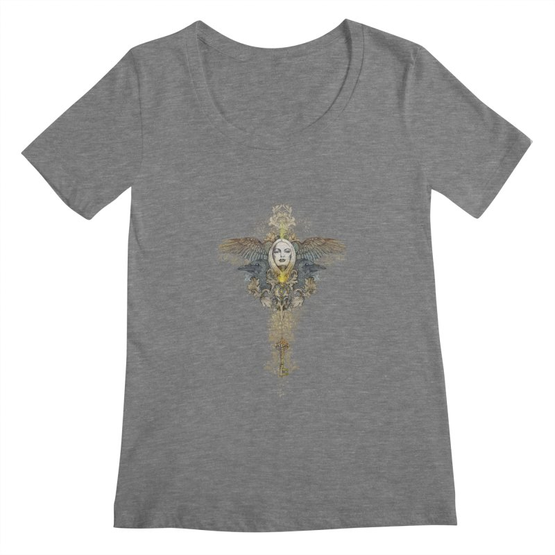 Nothing is heavy to those who have wings Women's Scoopneck by marineloup's Artist Shop