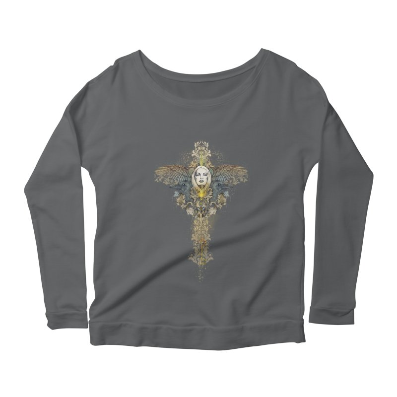 Nothing is heavy to those who have wings Women's Longsleeve Scoopneck  by marineloup's Artist Shop