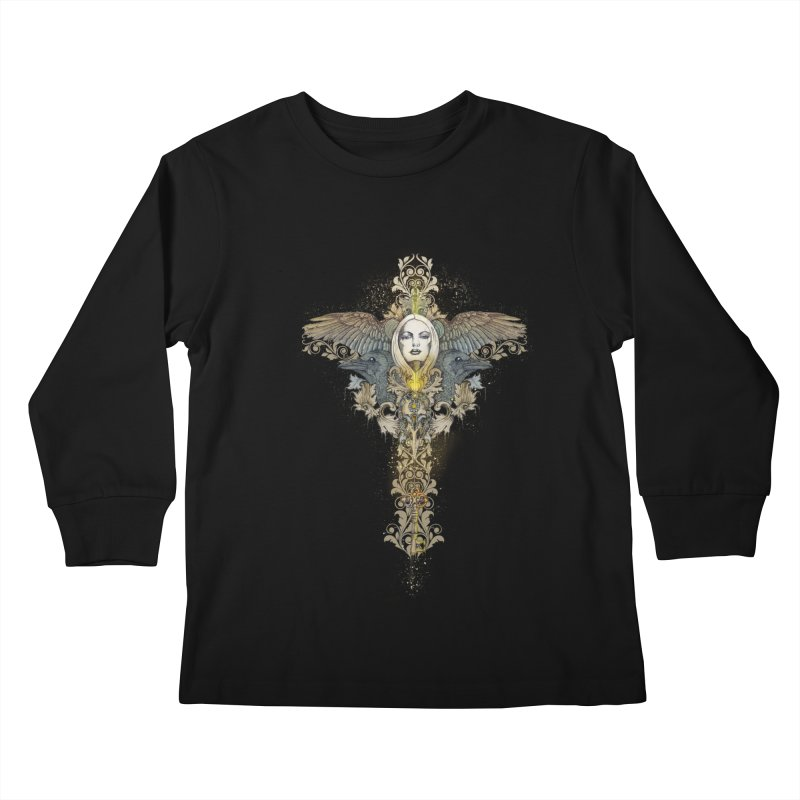 Nothing is heavy to those who have wings Kids Longsleeve T-Shirt by marineloup's Artist Shop