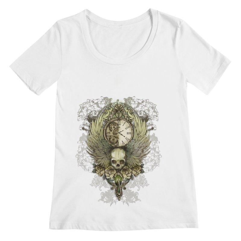 wings of time Women's Scoopneck by marineloup's Artist Shop