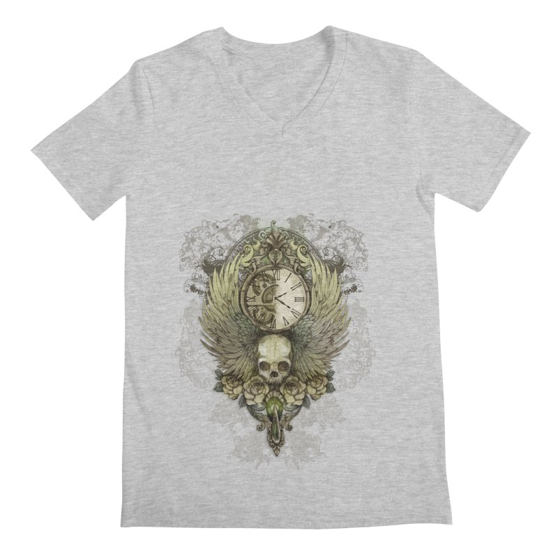 wings of time Men's V-Neck by marineloup's Artist Shop