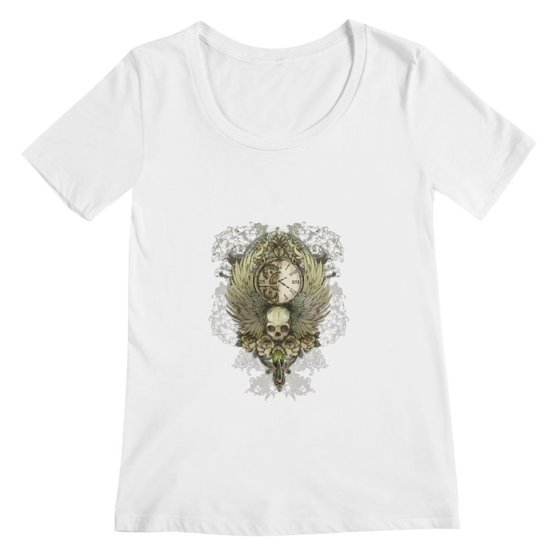 wings of time Women's Scoopneck by marineloup's Artist Shop