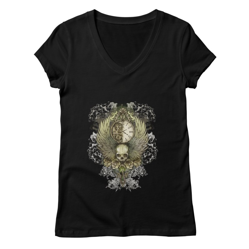 wings of time Women's V-Neck by marineloup's Artist Shop