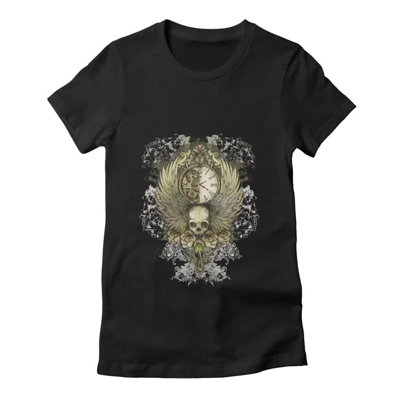 wings of time Women's Fitted T-Shirt by marineloup's Artist Shop