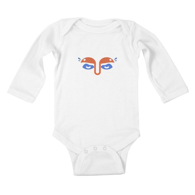 Someone watches me Kids Baby Longsleeve Bodysuit by Mario Carpe Shop