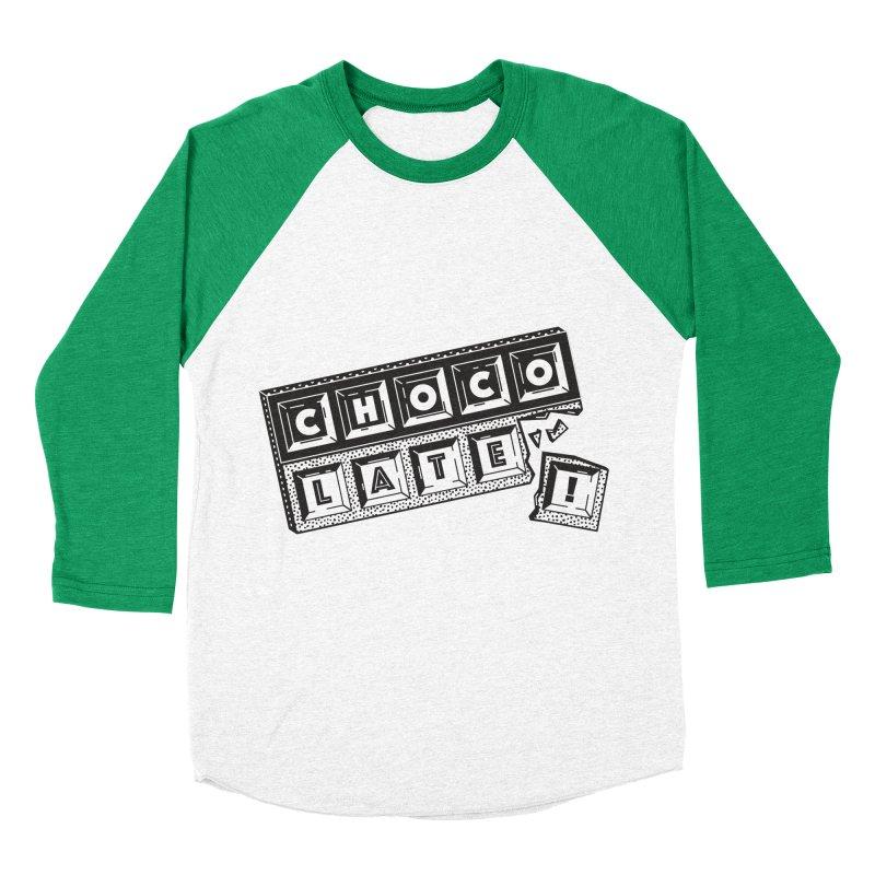 Chocolate! Men's Baseball Triblend Longsleeve T-Shirt by Mario Carpe Shop