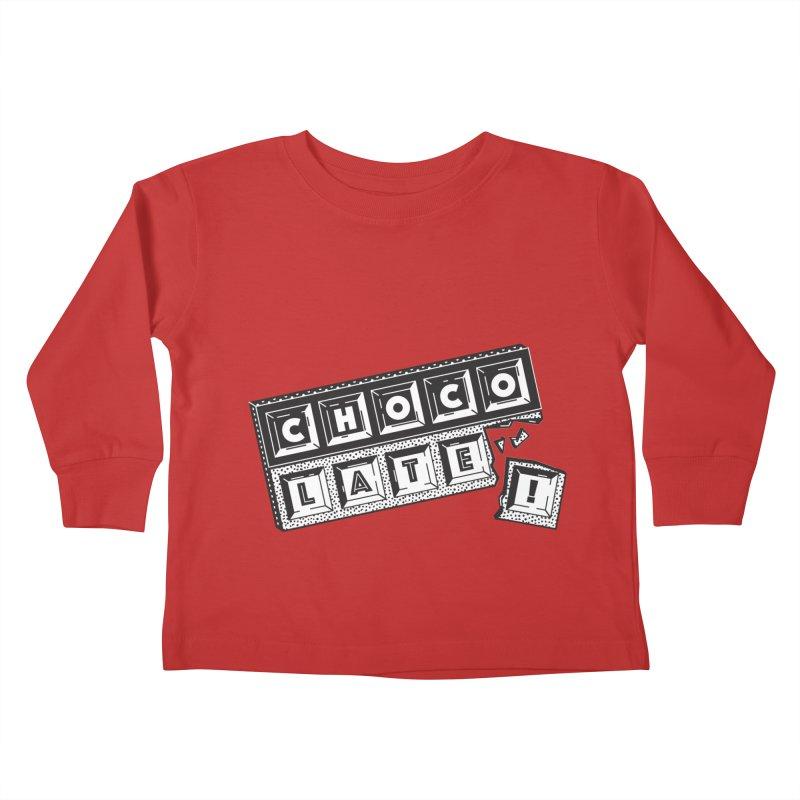 Chocolate! Kids Toddler Longsleeve T-Shirt by Mario Carpe Shop