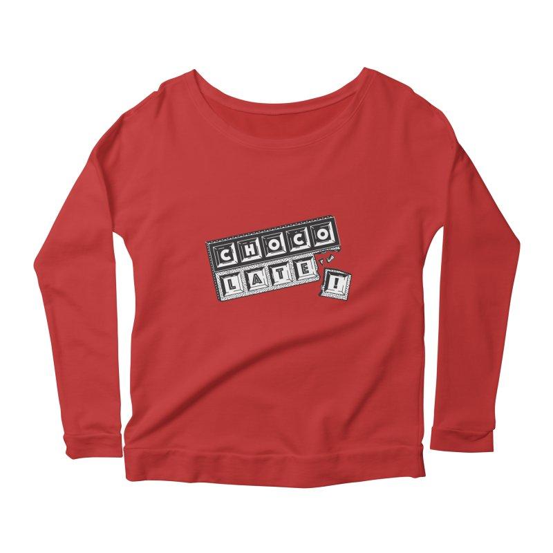 Chocolate! Women's Scoop Neck Longsleeve T-Shirt by Mario Carpe Shop