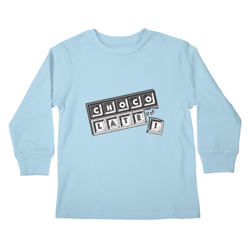 Chocolate! Kids Longsleeve T-Shirt by Mario Carpe Shop