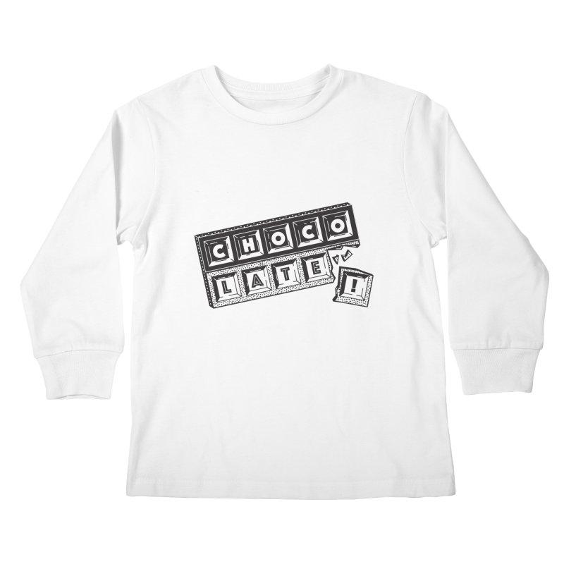 Chocolate! Kids Longsleeve T-Shirt by Mario Carpe Shop