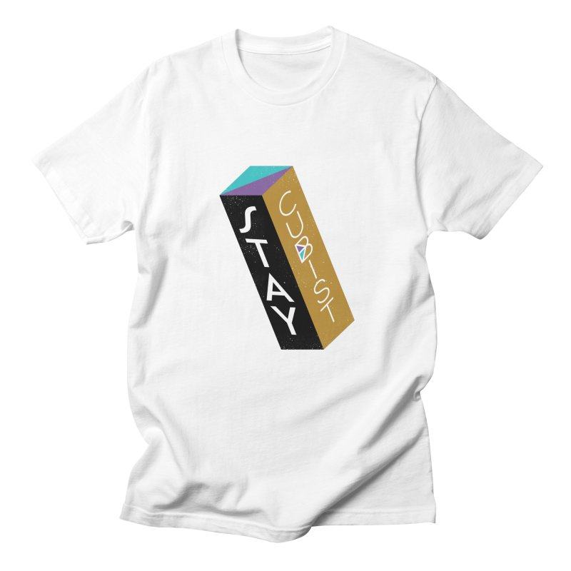 Stay Cubist Prism Men's T-Shirt by Mario Carpe Shop