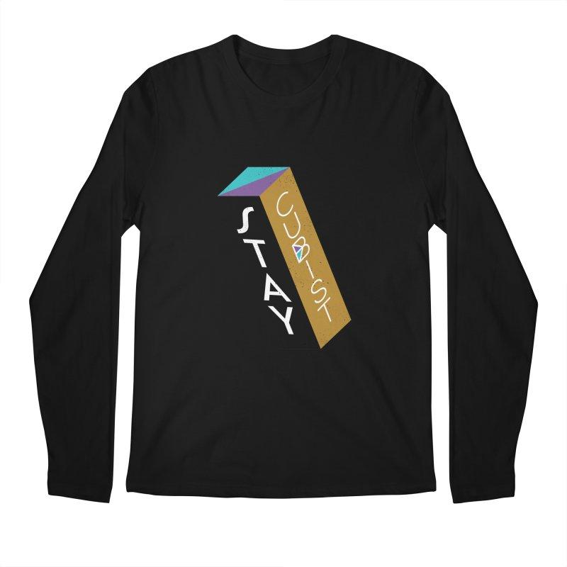Stay Cubist Prism Men's Longsleeve T-Shirt by Mario Carpe Shop
