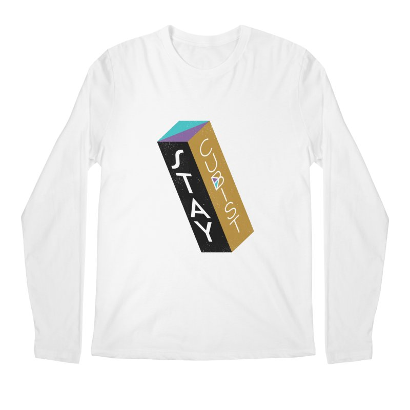 Stay Cubist Prism Men's Regular Longsleeve T-Shirt by Mario Carpe Shop