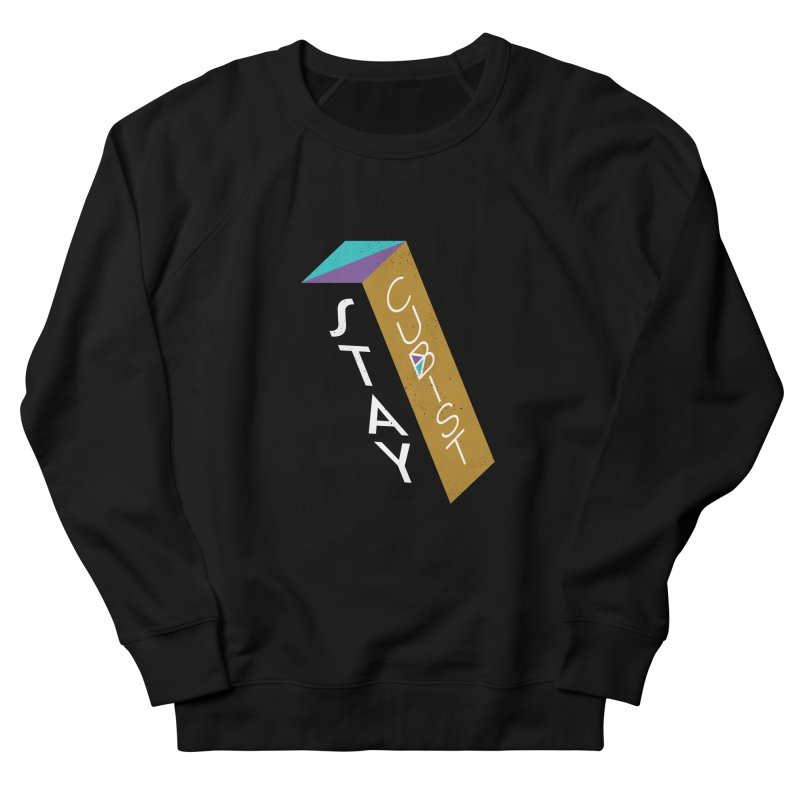 Stay Cubist Prism Men's French Terry Sweatshirt by Mario Carpe Shop