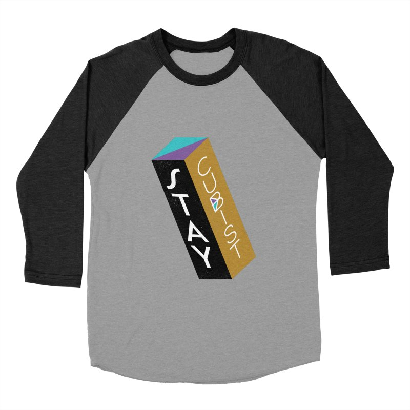 Stay Cubist Prism Women's Baseball Triblend Longsleeve T-Shirt by Mario Carpe Shop