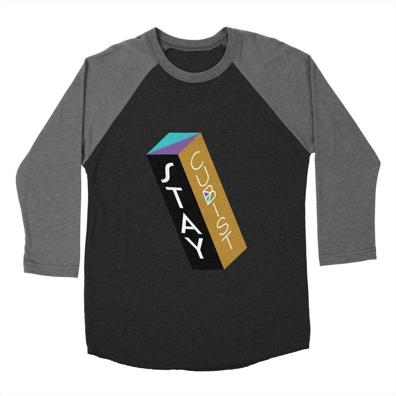 Stay Cubist Prism Men's Baseball Triblend T-Shirt by Mario Carpe Shop