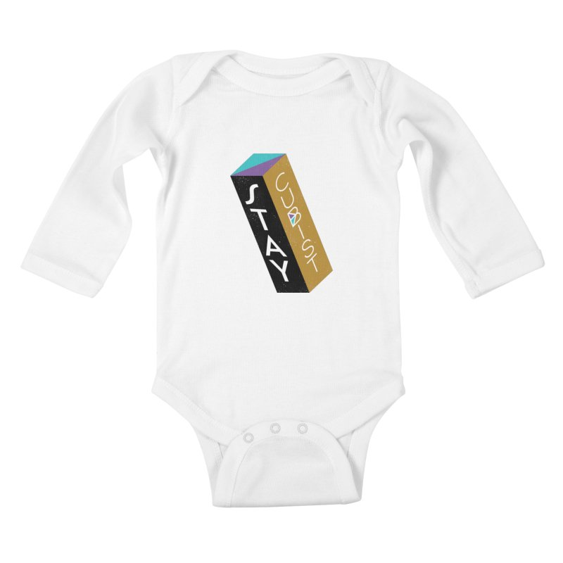 Stay Cubist Prism Kids Baby Longsleeve Bodysuit by Mario Carpe Shop