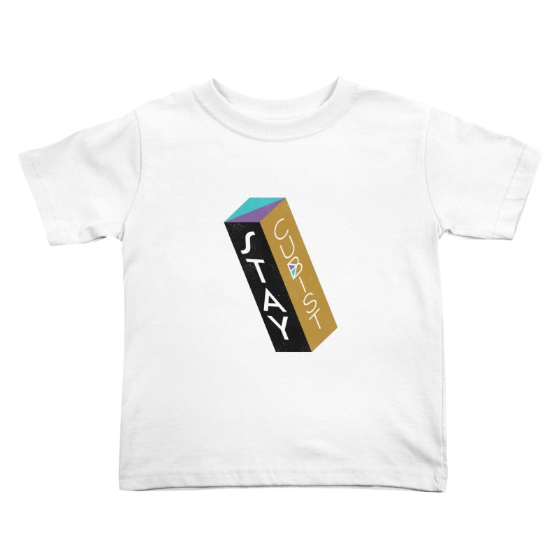 Stay Cubist Prism Kids Toddler T-Shirt by Mario Carpe Shop