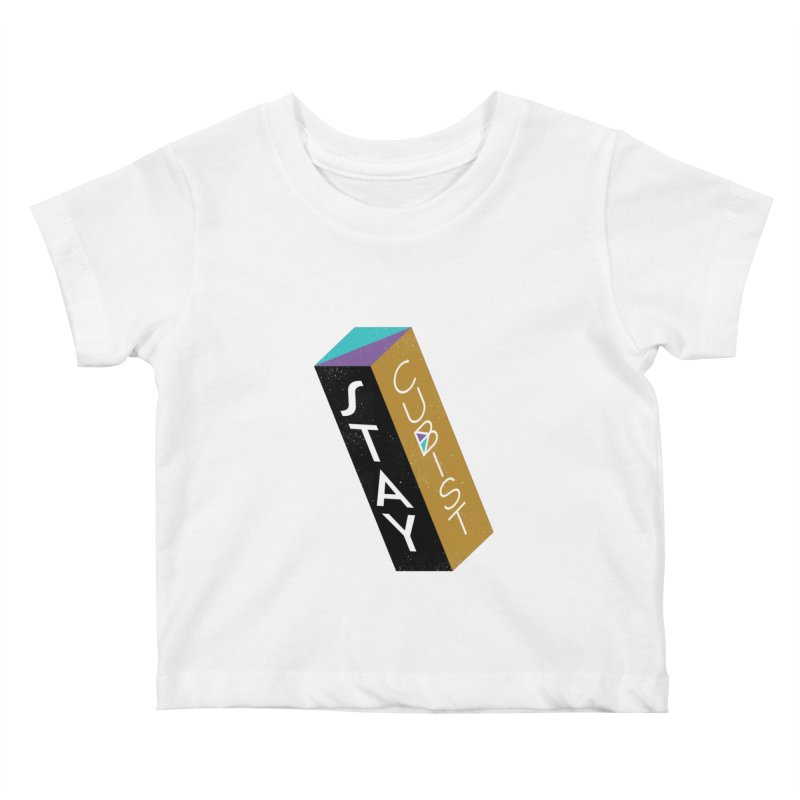 Stay Cubist Prism Kids Baby T-Shirt by Mario Carpe Shop