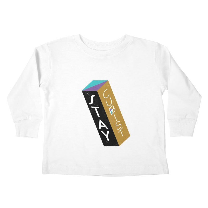 Stay Cubist Prism Kids Toddler Longsleeve T-Shirt by Mario Carpe Shop