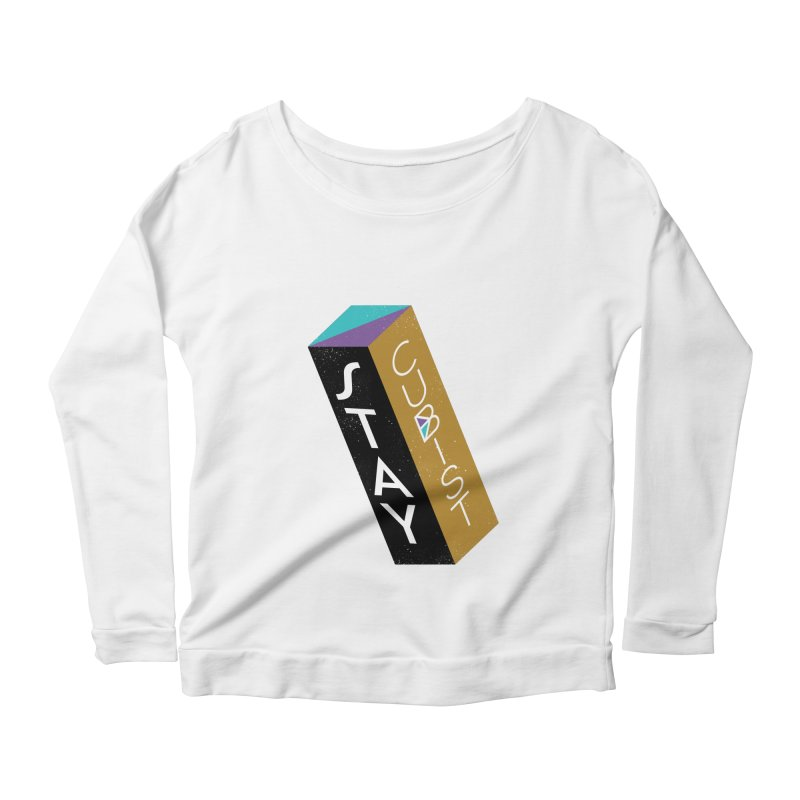 Stay Cubist Prism Women's Scoop Neck Longsleeve T-Shirt by Mario Carpe Shop