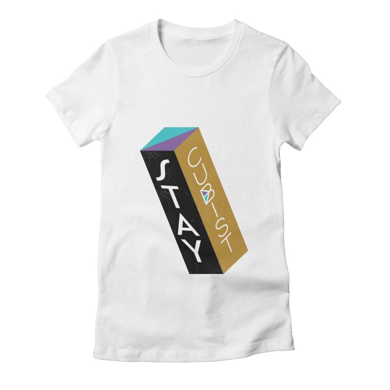 Stay Cubist Prism Women's Fitted T-Shirt by Mario Carpe Shop