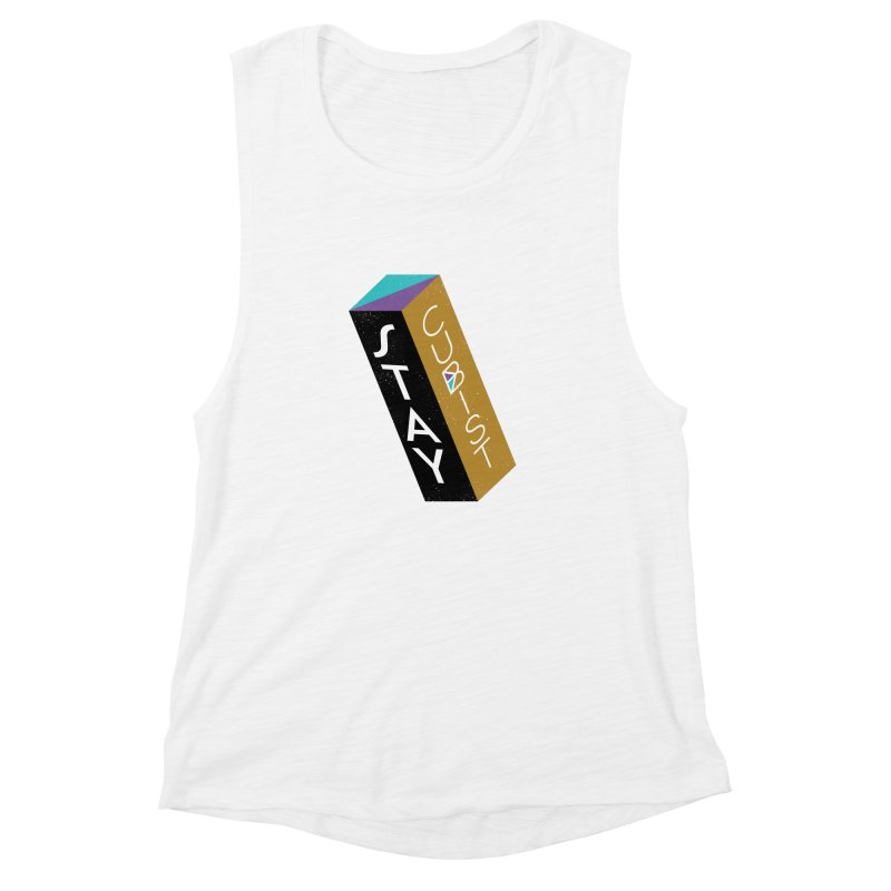 Stay Cubist Prism Women's Muscle Tank by Mario Carpe Shop