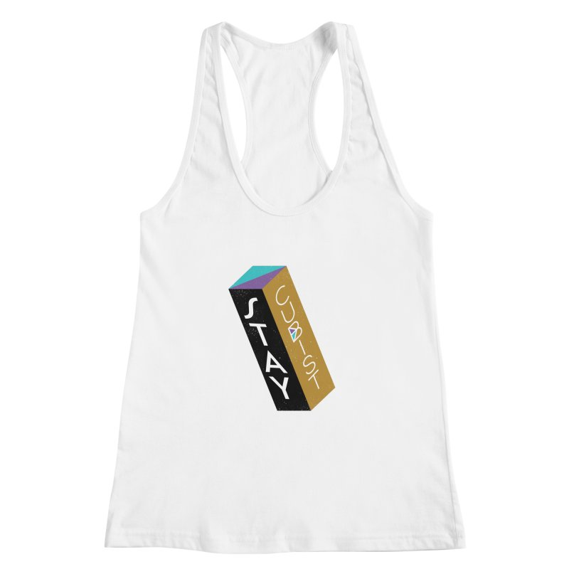 Stay Cubist Prism Women's Racerback Tank by Mario Carpe Shop