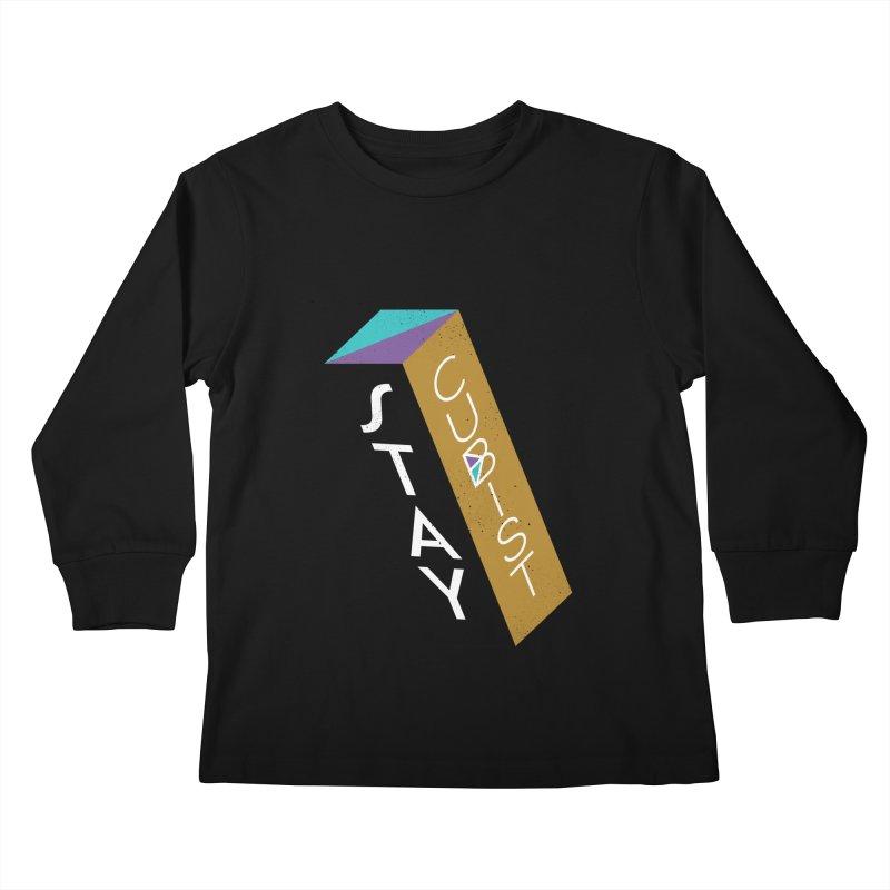 Stay Cubist Prism Kids Longsleeve T-Shirt by Mario Carpe Shop