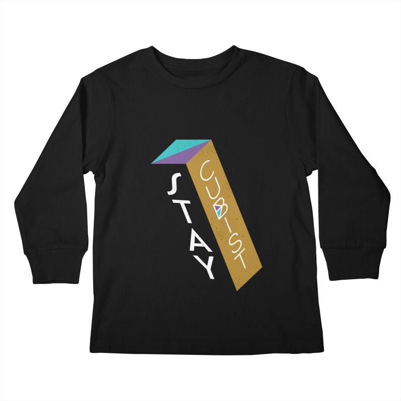 Stay Cubist Prism Kids Longsleeve T-Shirt by Mario Carpe Shop