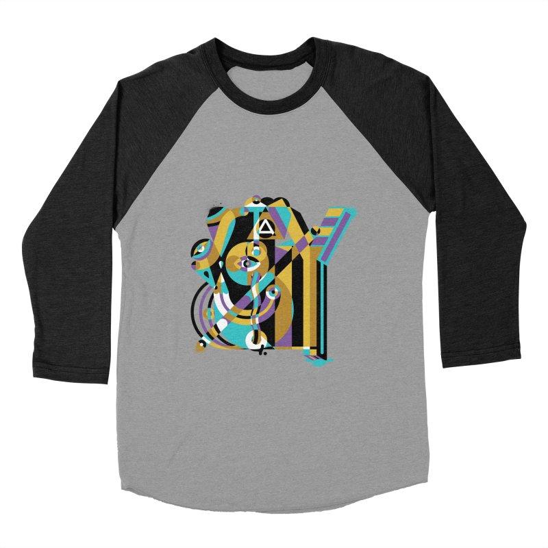 Stay Cubist Women's Baseball Triblend Longsleeve T-Shirt by Mario Carpe Shop