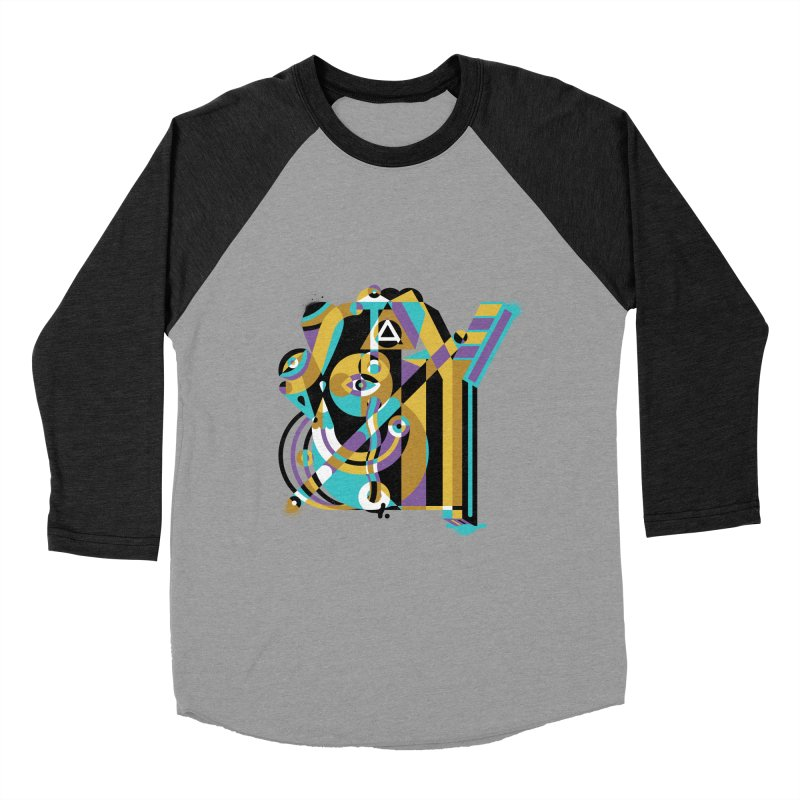 Stay Cubist Men's Baseball Triblend Longsleeve T-Shirt by Mario Carpe Shop