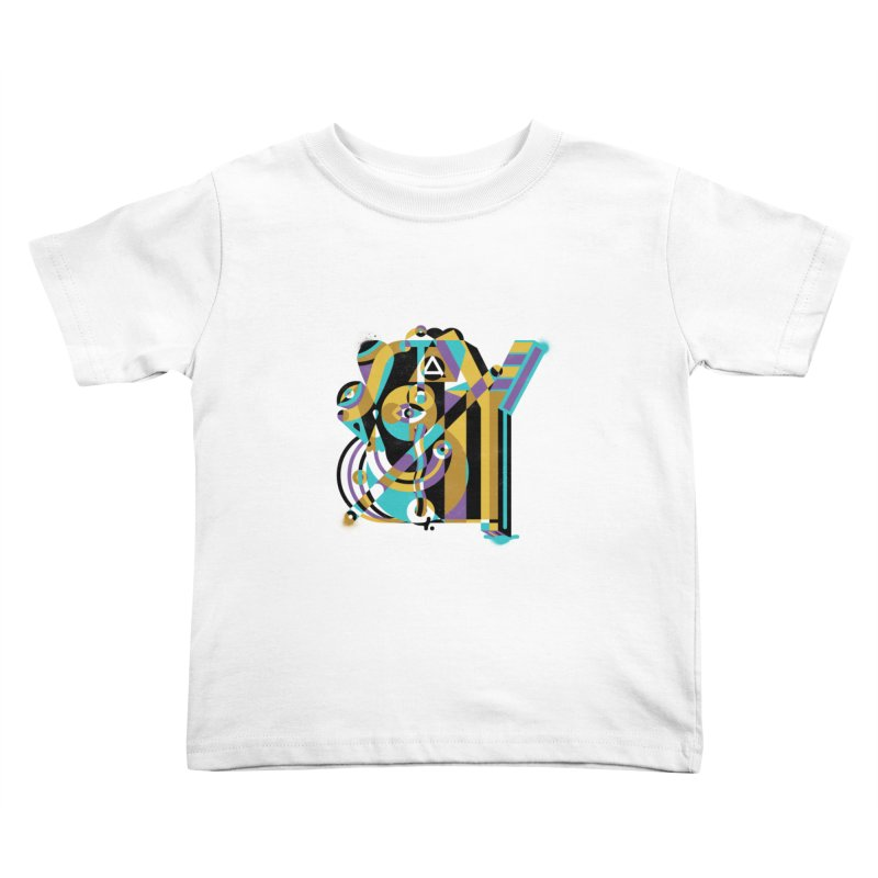 Stay Cubist Kids Toddler T-Shirt by Mario Carpe Shop