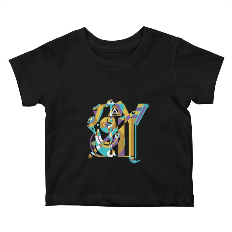 Stay Cubist Kids Baby T-Shirt by Mario Carpe Shop