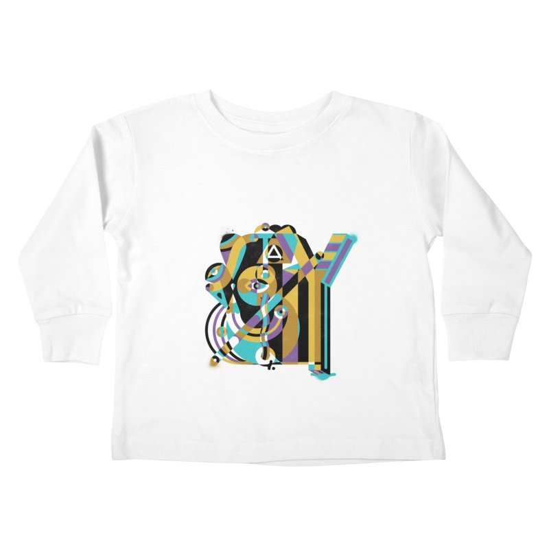 Stay Cubist Kids Toddler Longsleeve T-Shirt by Mario Carpe Shop