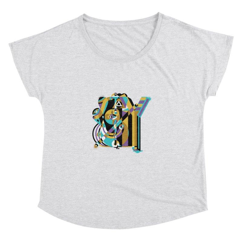 Stay Cubist Women's Dolman Scoop Neck by Mario Carpe Shop