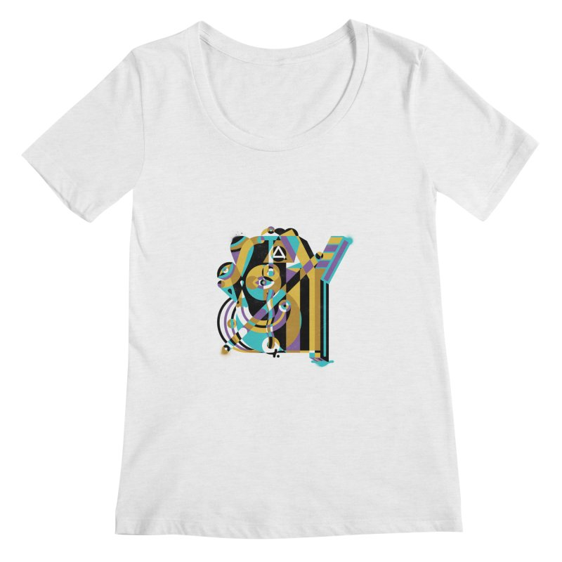 Stay Cubist Women's Regular Scoop Neck by Mario Carpe Shop