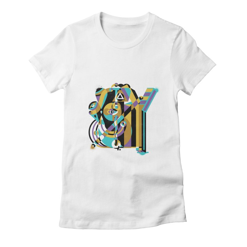 Stay Cubist Women's Fitted T-Shirt by Mario Carpe Shop