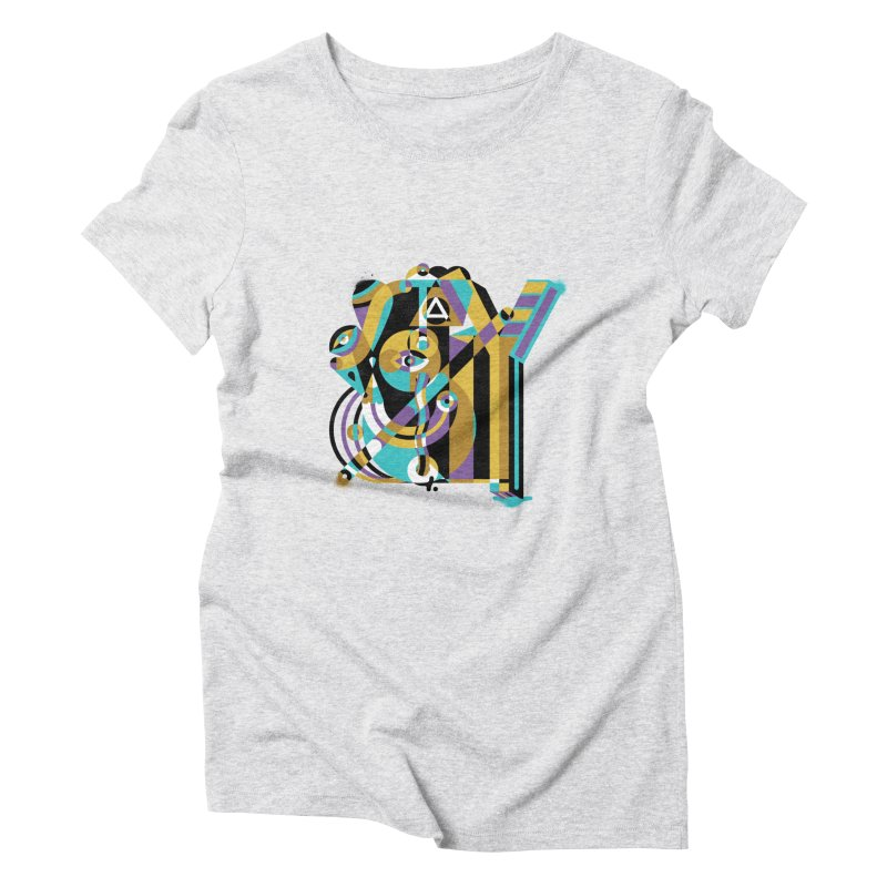 Stay Cubist Women's Triblend T-Shirt by Mario Carpe Shop