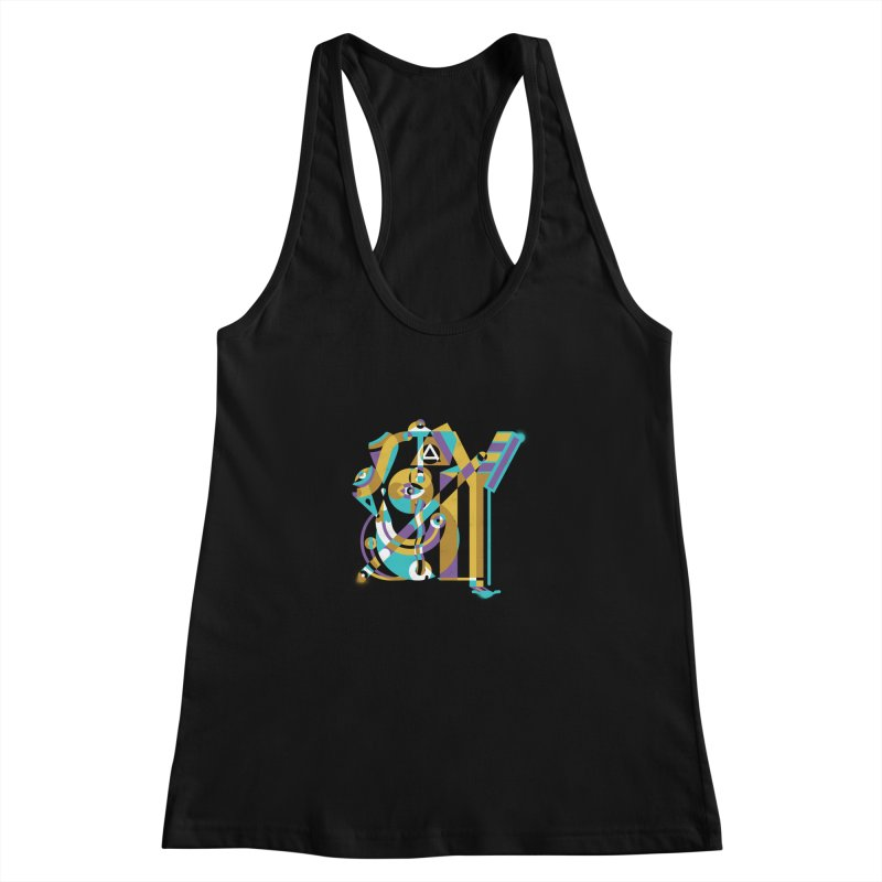 Stay Cubist Women's Racerback Tank by Mario Carpe Shop
